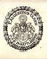 Ex Libris Augustinus Ulrich OSB von Rheude 1922.jpg