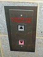 External lift control panel