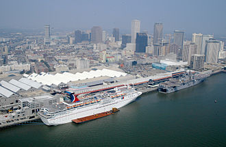 Carnival Cruise Line - Carnival Ecstasy docked in New Orleans