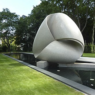 """Concrete art - Max Bill, Continuity (Colossus of Frankfurt), 1986, collection: Deutsche Bank, Frankfurt am Main. Max Bill """"was keen on creating works based on mathematical and geometric foundations—material manifestations of intellectual processes that resisted symbolism."""""""