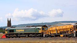 Fairwater Yard East Headshunt - Freightliner 66603.JPG