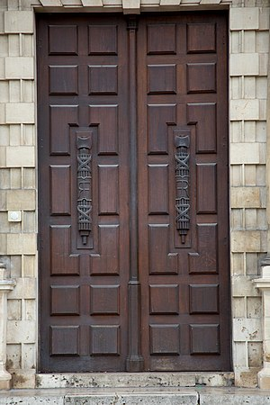 Fasces on door in France.jpg