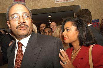 Chaka Fattah with wife Renee Chenault-Fattah