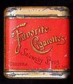 Favorite Cigarettes No 120 blikje, achterkant.JPG