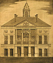The old Federal Hall, etching from before 1812