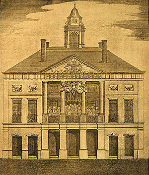 First inauguration of George Washington - Federal Hall, New York City, site of George Washington's first inauguration, April 30, 1789.