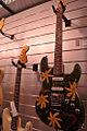 Fender Custom Shop flower and butterfly painted Stratocaster, Salon de la Musique et du Son 2008.jpg