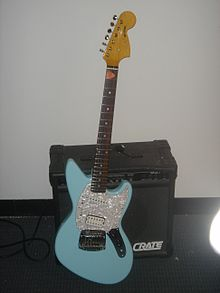 Una chitarra Fender Jag-Stang, modello usato da Cobain