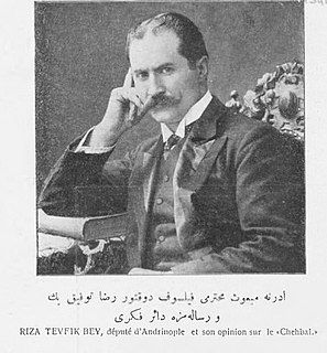 Rıza Tevfik Bölükbaşı Ottoman and Turkish philosopher, writer and politician