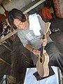 Finishing a ukelele (9237745938).jpg