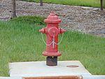 Fire hydrant at 2700 W Sugar Factory Rd station, Apr 16.jpg