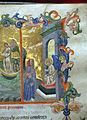 Firenze, commedia di dante, codice miniato da simone camaldolese e aiuti, purgatorio canto I, 1398, tempi 1, c. 32r, 06.JPG