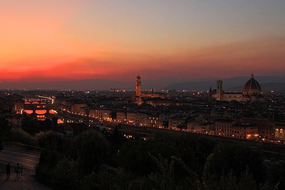 Firenze-Florenz-Florence at night from Piazzale Michelangelo