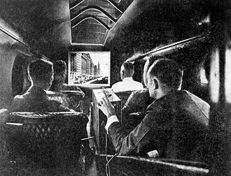 In-flight entertainment - The first in-flight film screened during the 1921 Parade of Progress Exposition in Chicago