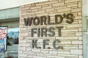 Colonel Sanders - The world's first KFC franchise, located in South Salt Lake, Utah