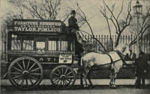 Horsebus - Horse-drawn omnibus in London, 1902