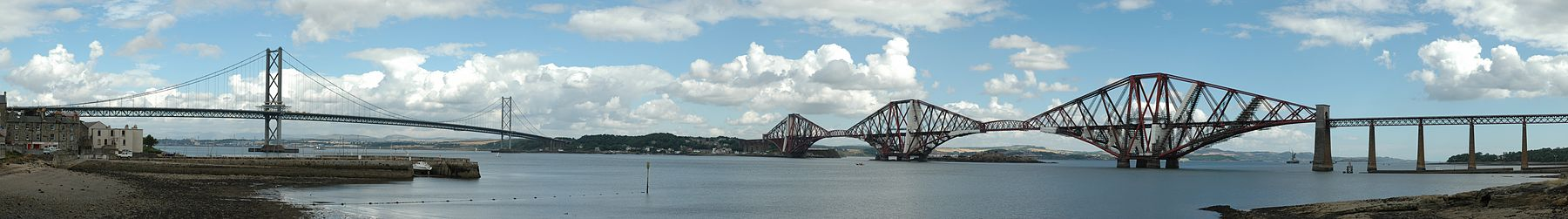 Firth of Forth bridges panorama by Greg Barbier 13750x1915.jpg