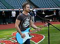 Five-time Grammy nominee Hunter Hayes performs his national anthem soundcheck, hours before Game 6 of the World Series. (30716280535).jpg