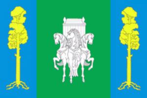 Bolshesosnovsky District - Image: Flag of Bolshesosnovsky rayon (Perm krai)
