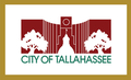 "Flag of Tallahassee, Florida (""City Hall Silhouette Flag"", used 1986-2002).png"
