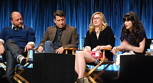 New Girl - Executive producers Dave Finkel, Brett Baer, Elizabeth Meriwether and producer/actress Zooey Deschanel at Paley Fest 2012.