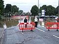 Flooded crossroads by the New Bridge. - geograph.org.uk - 505587.jpg