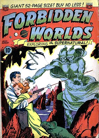 Fantasy comics - Forbidden Worlds a common example of 1950s fantasy anthologies