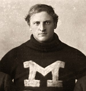 1895 Michigan Wolverines football team - Guard Forrest Hall from Jackson Centre, Ohio