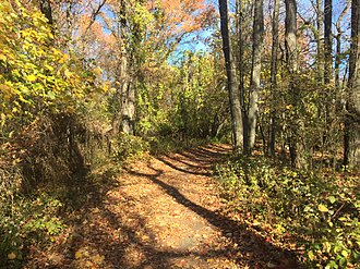 Fort Lee Historic Park - Image: Fort Lee Historic Park Hiking Path