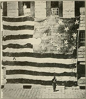 flag that flew over Fort McHenry in Baltimore during the War of 1812
