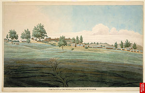 Champawat - Fort and the capital city of Kali Kumaon, Champawat, 1815.
