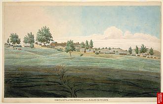 Champawat - Fort and the capital city of Kali Kumaon, Champawat, 1815.