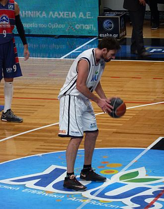 Fotios Lampropoulos - Fotis Lampropoulos playing with Apollon Patras against Trikala Aries.