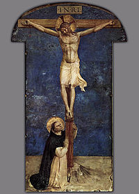 Fra Angelico - Saint Dominic Adoring the Crucifixion - WGA00562.jpg