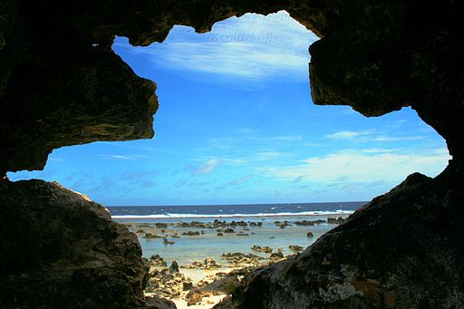 Framed seascape in Nauru, March 2013. Photo- Angela Spalding, Australian adviser (12045933424)