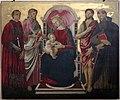 Francesco botticini (attr.), Madonna col Bambino, tra i ss. Lorenzo, Bartolomeo, Giovanni Battista e Antonio Abate, 00.jpg
