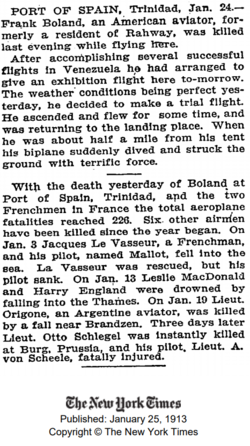 Francis Edward Boland (1873-1913) obituary in the New York Times on January 25, 1913.png
