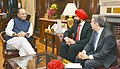 Francois Philippe Champagne and the Minister of Innovation, Science and Economic Development, Mr. Navdeep Singh Bains call on the Union Minister for Finance and Corporate Affairs, Shri Arun Jaitley, in New Delhi (1).jpg