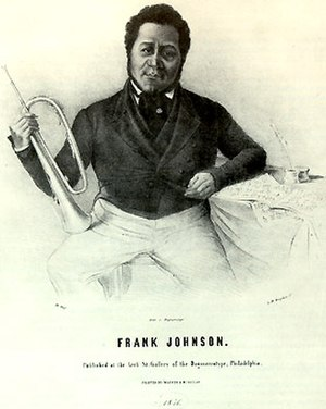 Francis Johnson (composer) - Posing in Philadelphia