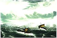 Franklin's canoes in gale