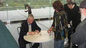 Frans de Waal signing one of his books at the ...