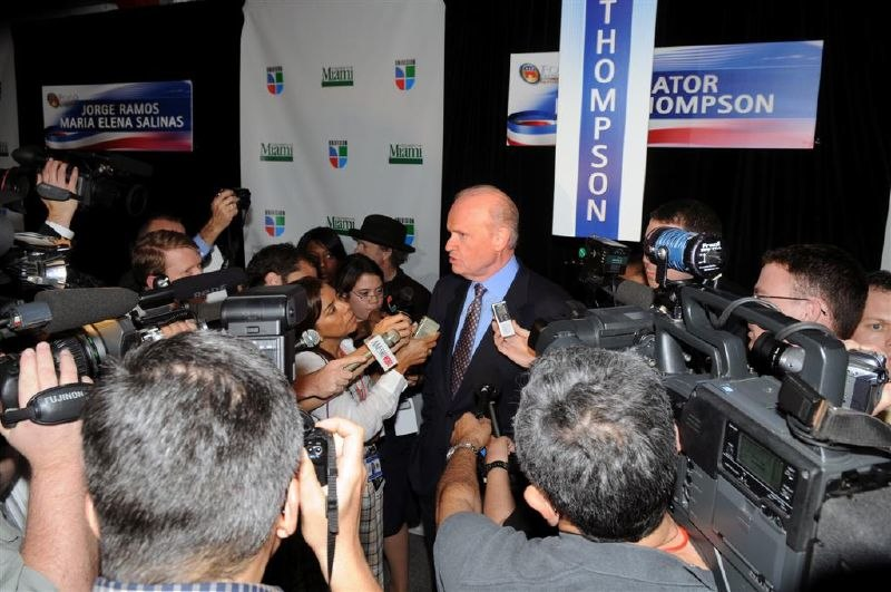 Fred Thompson in spin room