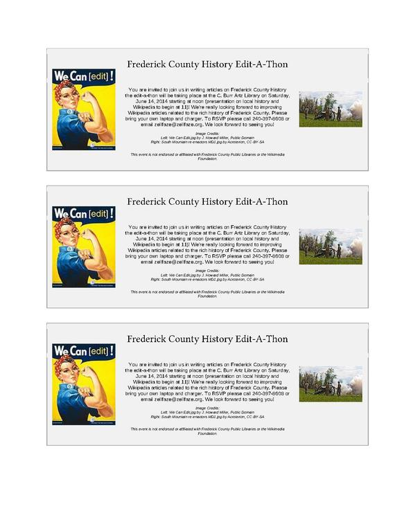 File Frederick History Edit A Thon Promotional Handouts