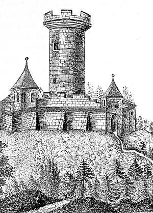 Zähringen castle - Zähringen castle around 1500