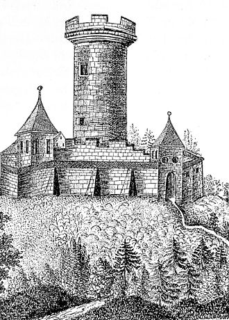 House of Zähringen - Zähringen castle, c. 1500