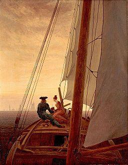 Friedrich, Caspar David - On a Sailing Ship