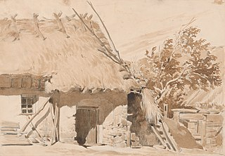 Study of Cottage with Thatched Roof