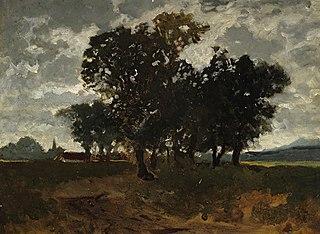 Landschaft mit Baumgruppe