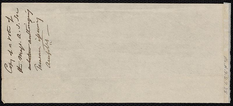 File:From Massachusetts Anti-Slavery Society to Isaac Knapp; Wednesday, November 15, 1837 p2.jpg