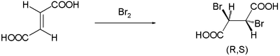Bromination of fumaric acid